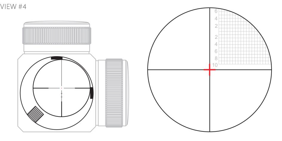 Riflescope erector tube upper right alignment