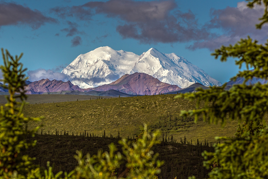 Denali, the highest peak in North America.