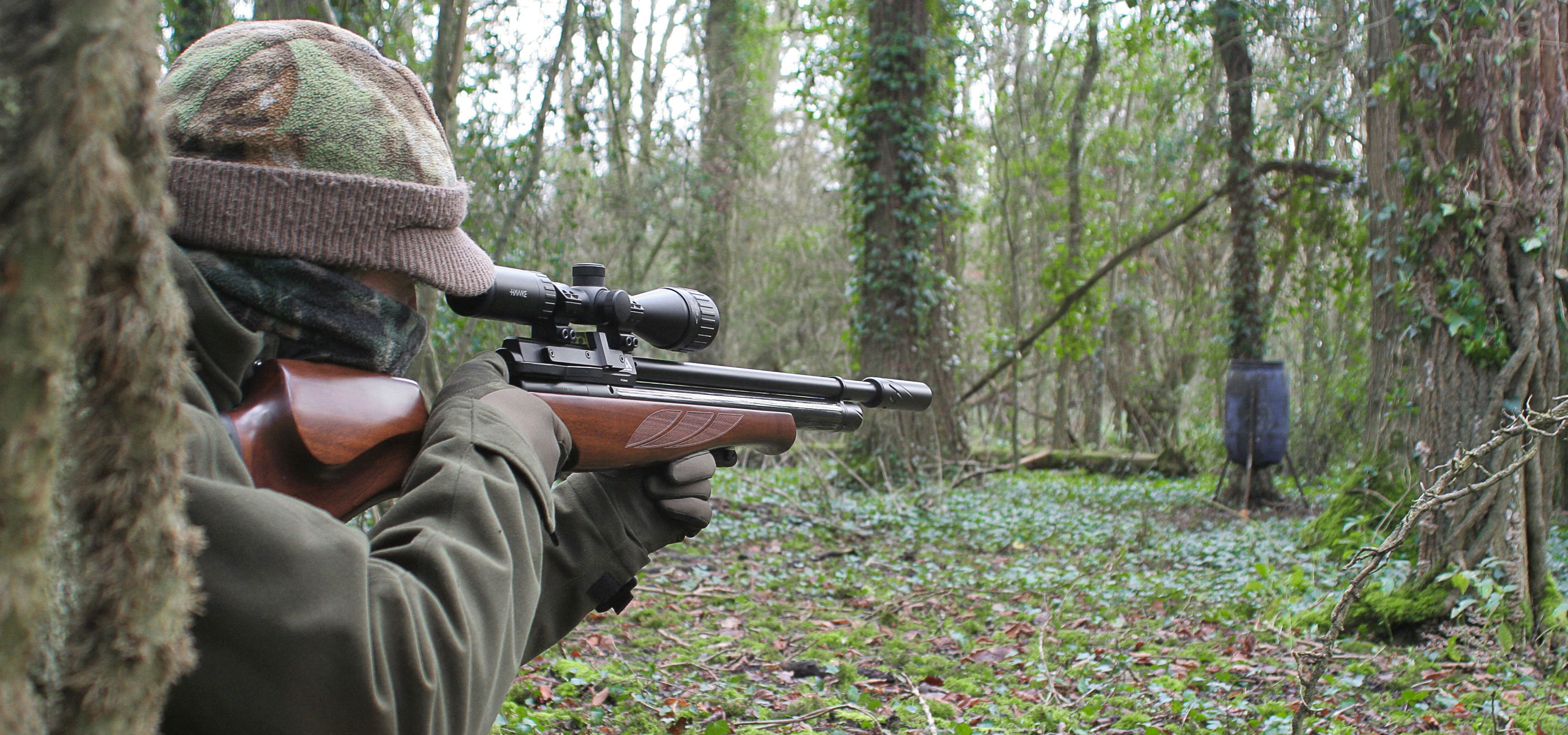 Mat Manning : Mat tracks a squirrel through his scope as it makes its way towards one of the feeders.