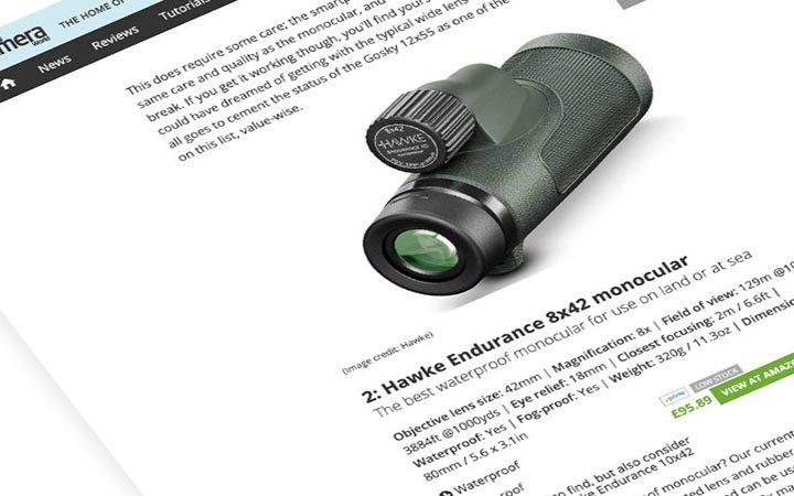 Review: Digital Camera World | Hawke Endurance ED 8×42 Monocular